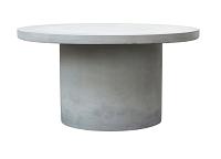 Runt soffbord i betong