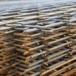 Runt betongbord - Armeringsnät