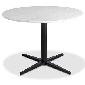 Accent matbord runt - Vit marmor