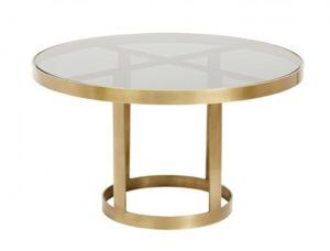 Nordal Soffbord Golden Black glass