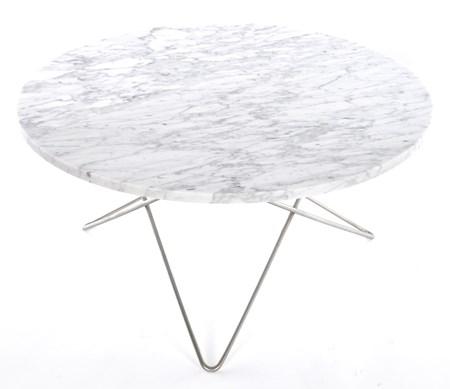 OX DENMARQ O table soffbord - marmor/rostfritt