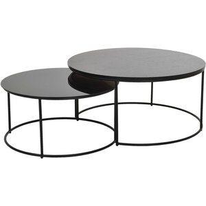 Töreboda soffbord - Trä/glas