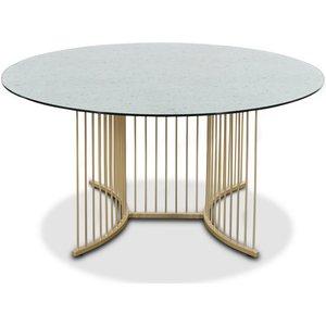Tiffany Falcon soffbord - Mässing / Terrazzo glasskiva
