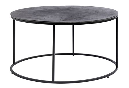 Runt soffbord Järn Ø 90 cm Svart